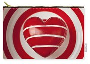 Striped Heart In Bowl Carry-all Pouch by Garry Gay
