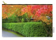 Strolling Path Lined With Japanese Maple Trees In Fall Carry-all Pouch