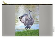 Strutting Sandhill Crane Carry-all Pouch