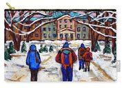 L'art De Mcgill University Tableaux A Vendre Montreal Art For Sale Petits Formats Mcgill Paintings  Carry-all Pouch