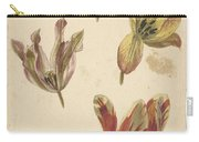 Studies Of Four Tulips, Elias Van Nijmegen, C. 1700 - C. 1725 Carry-all Pouch