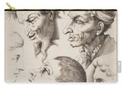 Studies Of Heads Anonimo, Blooteling Abraham Carry-all Pouch