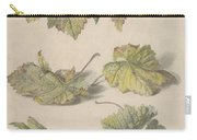 Studies Of Vine Leaves, Willem Van Leen, 1796 Carry-all Pouch