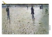 Study For A Paris Street Rainy Day Carry-all Pouch by Gustave Caillebotte