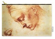 Study For The Head Of Leda Carry-all Pouch
