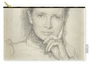 Study For The Portrait Of Mrs. Kc Boxman-winkler, Jan Veth, 1874 - 1925 Carry-all Pouch