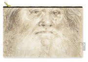 Study Of A Bearded Man [verso] Carry-all Pouch
