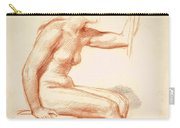 Study Of A Female Nude Seated Carry-all Pouch