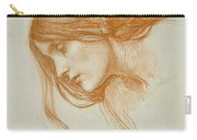 Study Of A Girls Head Carry-all Pouch