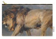 Study Of A Lion Carry-all Pouch