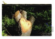 Stump Shaped Like A Heart Carry-all Pouch