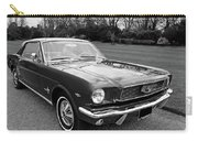 Stunning 1966 Mustang In Black And White Carry-all Pouch