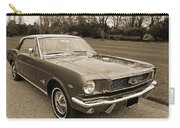 Stunning '66 Mustang In Sepia Carry-all Pouch