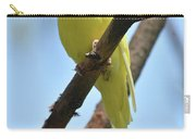 Stunning Little Yellow Budgie Parakeet In Nature Carry-all Pouch