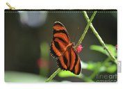 Stunning Oak Tiger Butterfly Resting On Flowers Carry-all Pouch