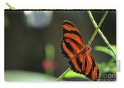 Stunning Orange And Black Oak Tiger Butterfly In Nature Carry-all Pouch