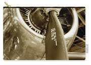 Stunning Propeller In Sepia Carry-all Pouch by Dennis Dame
