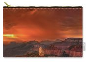 Stunning Red Storm Clouds Over The North Rim Grand Canyon Arizona Carry-all Pouch