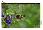 Stunning Shot Of A Zebra Butterfly On A Flower Carry-all Pouch
