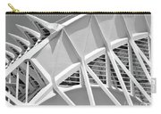 Stunning Structure - Black And White Carry-all Pouch