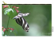 Stunning Zebra Butterfly On A Pink Flower Carry-all Pouch