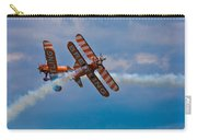 Stunt Biplanes With Wingwalkers Carry-all Pouch