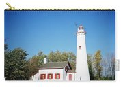 Sturgeon Point Lighthouse, Michigan - Horizontal Carry-all Pouch