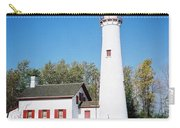 Sturgeon Point Lighthouse, Michigan - Vertical  Carry-all Pouch