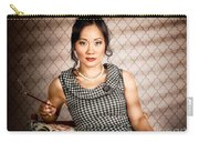 Stylish Vintage Asian Pin-up Lady With Cigarette Carry-all Pouch by Jorgo Photography - Wall Art Gallery