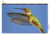 Stylized Hummingbird In Hover Carry-all Pouch