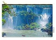 Subtropical Vegetation Surrounds Waterfalls In Iguazu Falls National Park-brazil Carry-all Pouch