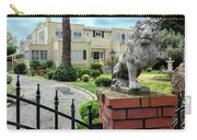 Suburban Antique House With Lion Hayward California 22 Carry-all Pouch