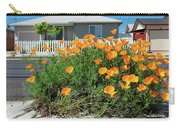 Suburban House On Orchard Avenue With Poppies Hayward California 3 Carry-all Pouch