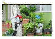 Suburban House With Front Yard Religious Shrine Hayward California 10 Carry-all Pouch