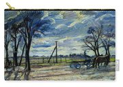 Suburban Landscape In Spring  Carry-all Pouch
