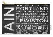 Subway Maine State Square Carry-all Pouch