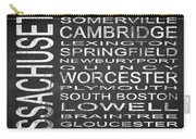 Subway Massachusetts State Square Carry-all Pouch