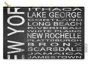 Subway New York State Square Carry-all Pouch