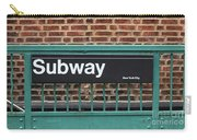 Subway Sign In New York City Carry-all Pouch