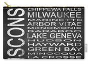 Subway Wisconsin State 2 Square Carry-all Pouch
