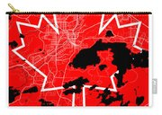 Sudbury Street Map - Sudbury Canada Road Map Art On Canada Flag Symbols Carry-all Pouch