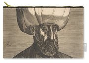 Suleyman The Magnificent , Engraved By Melchior Lorck Carry-all Pouch