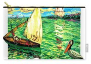 Sulina, Romania, Sailing Boat, Lighthouse Carry-all Pouch