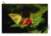 Sulpher Butterfly On Lantana Carry-all Pouch