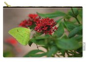 Sulphur Butterfly On Red Flower Carry-all Pouch