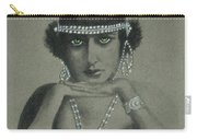 Sultry Silent Star -- Portrait Of Silent Film Star Carry-all Pouch