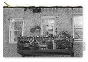 Summer Balcony In B W Carry-all Pouch
