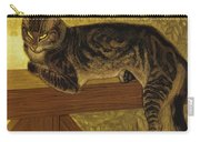 Summer Cat On A Balustrade Carry-all Pouch