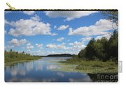 Summer Cloud Reflections On Little Indian Pond In Saint Albans Maine Carry-all Pouch