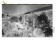 Summer Day On The Victorian Veranda Bw 03 Carry-all Pouch